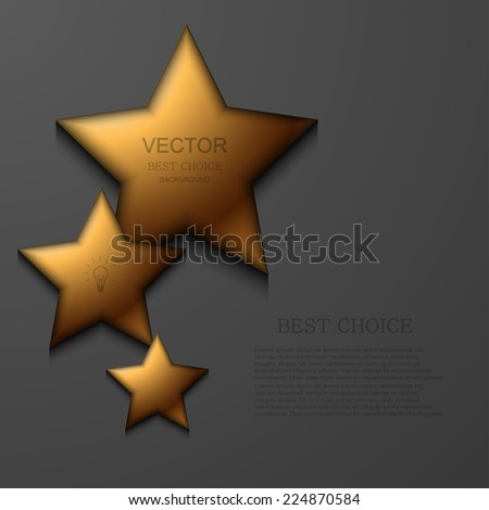 Vector modern gold star background. Eps 10 - stock vector