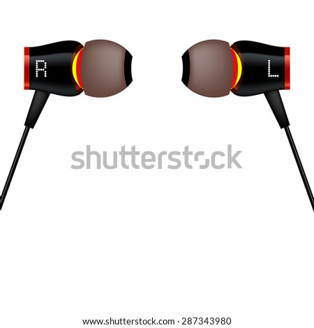 Vector Modern Headphones Icon Isolated on White Background