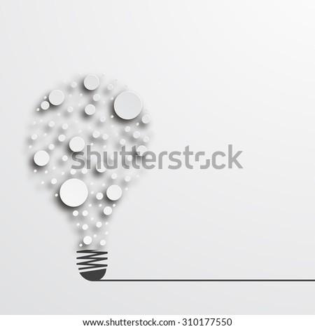 Vector modern idea icon background. Business design - stock vector
