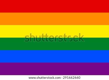 Vector modern lgbt flag background. type of sexual minorities - stock vector