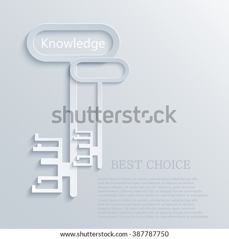 vector modern light key to knowledge background. Eps10 - stock vector