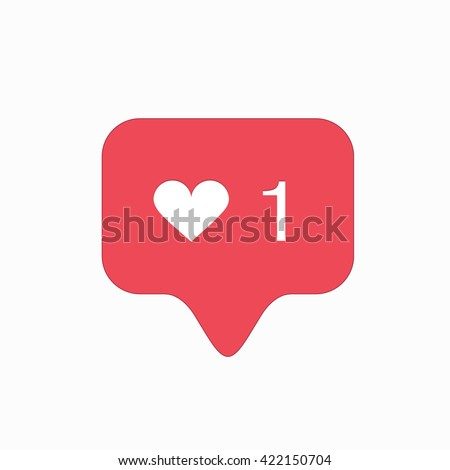 vector modern like pink icon isolated on white background.