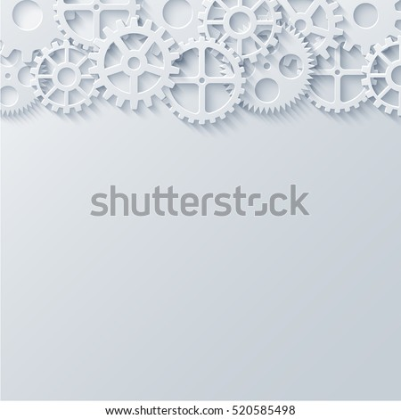 Vector modern mechanism industrial concept. Technology gears background.