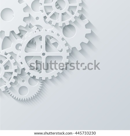 Vector modern mechanism industrial concept. Technology gears background. Eps10 - stock vector