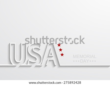 Vector modern memorial day or 4 july background - stock vector