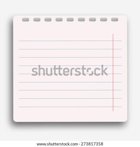 Vector modern notebook on white background. Eps10 - stock vector