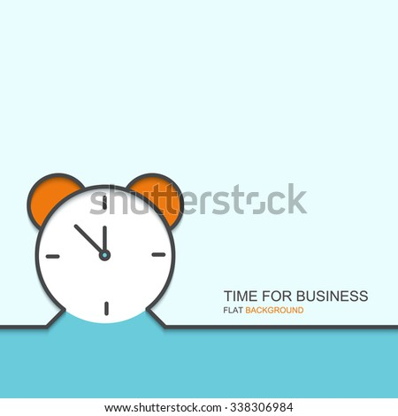 Vector modern outline flat design of time for business. creative background - stock vector
