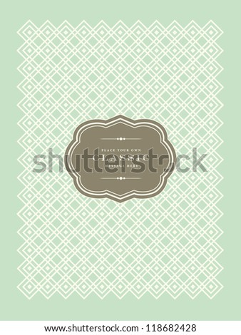 Vector Modern Pastel Frame. Easy to edit. Perfect for invitations or announcements. - stock vector