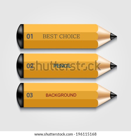 vector modern pencil infographics. Education or business background. Eps10