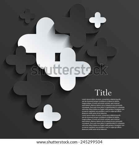 Vector modern pus or cross background template. Eps10 - stock vector