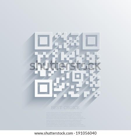 Vector modern qr code background. Eps10 illustration - stock vector