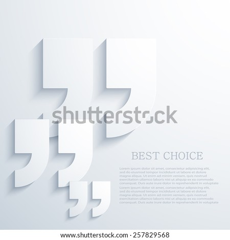 Vector modern quote icons background. Eps 10 illustration - stock vector