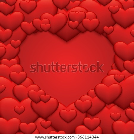 Vector modern red valentines day or 8 march background. mothers day - stock vector