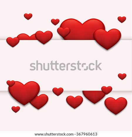 Vector modern red valentines day or 8 march background. Womens day