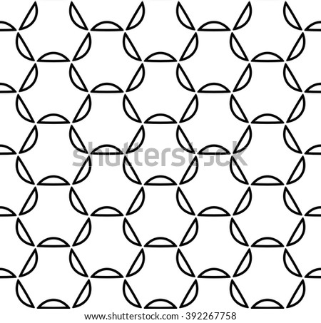 Vector modern seamless geometry pattern grid, black and white abstract geometric background, pillow print, monochrome retro texture, hipster fashion design - stock vector