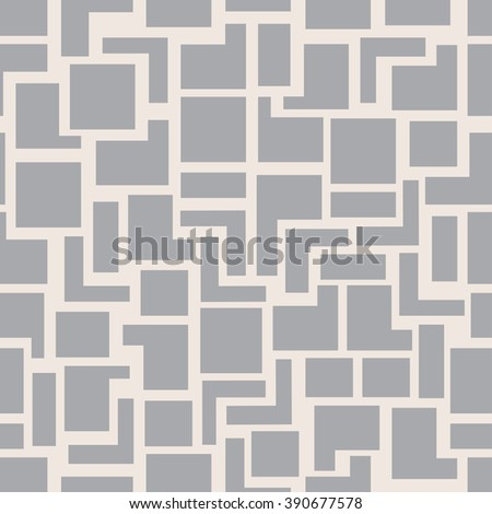 Vector modern seamless geometry pattern squares, grey abstract geometric background, monochrome retro texture, hipster fashion design