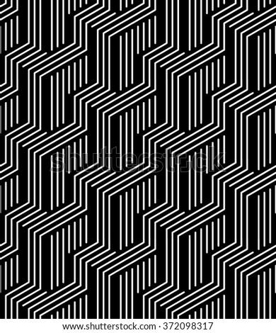 Caution Stripes Black And White