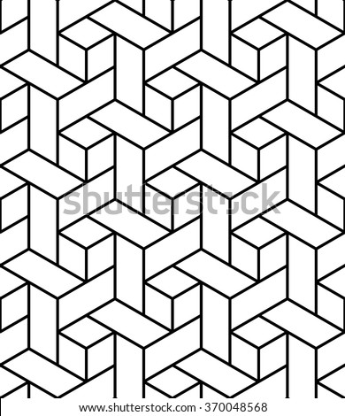Vector modern seamless geometry pattern trippy, black and white abstract geometric background, pillow print, monochrome retro texture, hipster fashion design  - stock vector