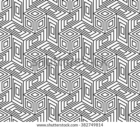Vector modern seamless geometry pattern trippy, black and white abstract geometric background, pillow print, monochrome retro texture, hipster fashion design