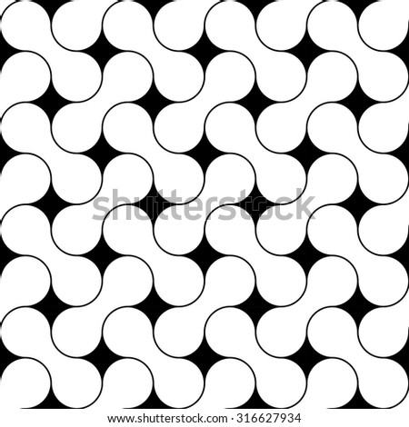 Vector modern seamless geometry pattern zigzag, black and white abstract geometric background, wallpaper print, monochrome retro texture, hipster fashion design