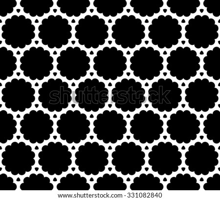Vector modern seamless sacred geometry pattern web, black and white abstract geometric background, trendy print, monochrome retro texture, hipster fashion design - stock vector