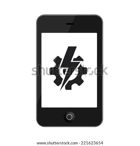 Vector modern smartphone isolated on white background. Technology icon - stock vector
