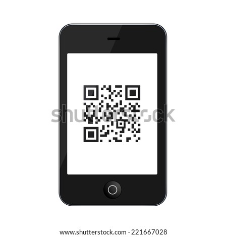 Vector modern smartphone isolated on white background. Technology icon