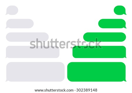 Vector modern sms or message icons. Bubble speech set - stock vector