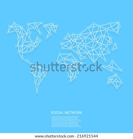 Vector modern social network background. Eps 10 - stock vector