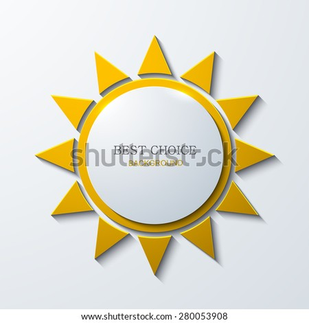 Vector modern sun icon background on white background - stock vector