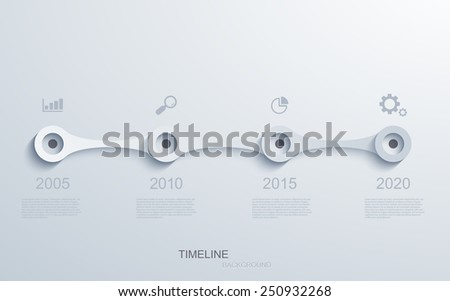 Vector modern timeline infographic. Business development. Eps10 - stock vector