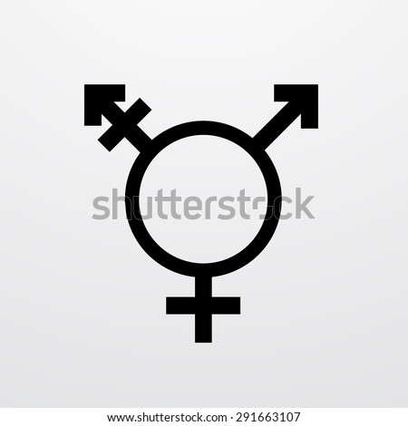 Vector modern transgender symbol on white background. type of sexual minorities
