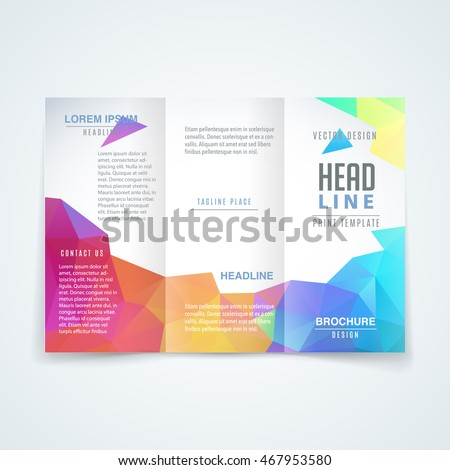 Vector Modern Trifold Brochure Design Template Stock Vector