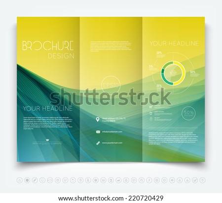 Vector Modern Trifold Brochure Design Template Stock Vector Hd