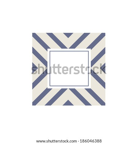 Vector Modern Triangle Frame and Invitation Template - stock vector