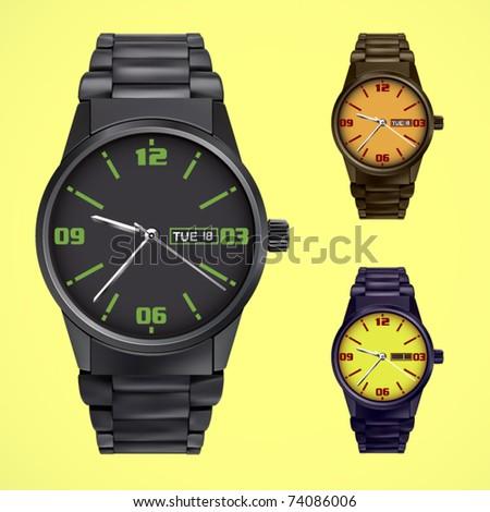 vector modern watch - stock vector