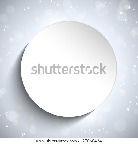 Vector - Modern White Circle Glowing Effects - stock vector