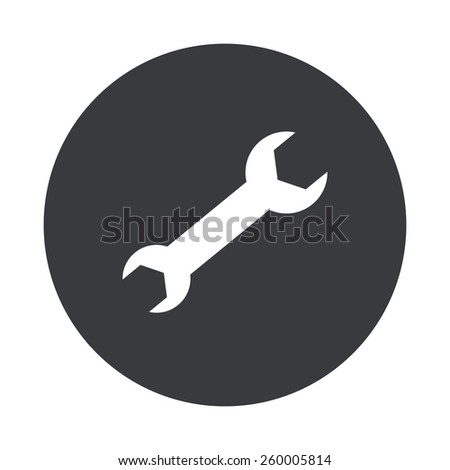double sided wrench silhouette. vector modern wrench gray circle icon on white background double sided silhouette c