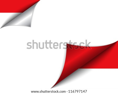 Vector - Monaco Country Flag Turning Page