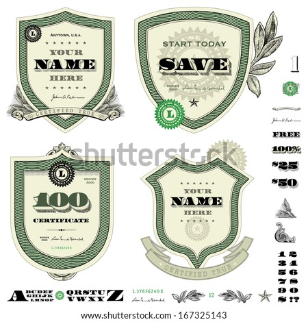 Dollar logo stock images royalty free images vectors for Dollar certificate template