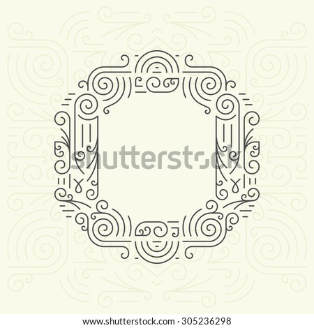 Vector Mono Line style Geometric Font Your for Text, Slogan, Template or Advertising. Golden Monogram Design element for Labels and Badges. Letter O - stock vector