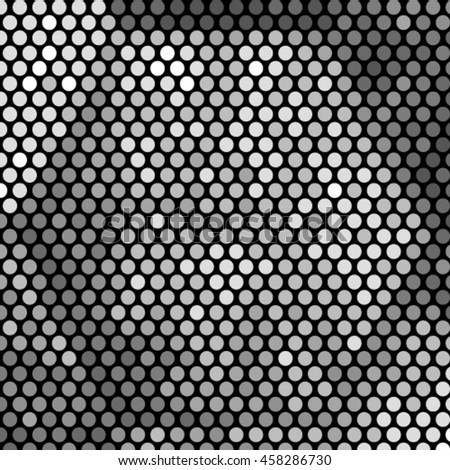 Vector monochrome geometric halftone pattern. Retro pointillism background. Abstract retro pattern dotted texture