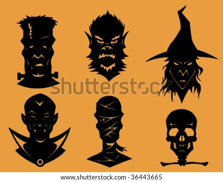 Vector - Monster collection. - stock vector