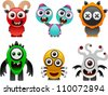 vector monsters collection 2 - stock vector