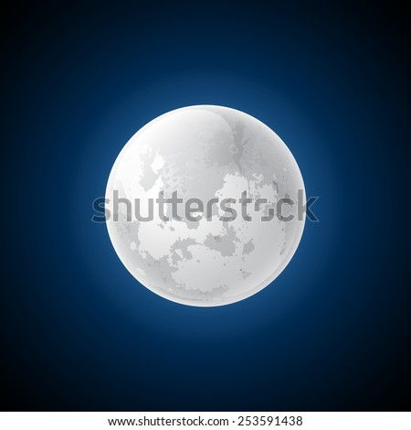 Vector moon - stock vector