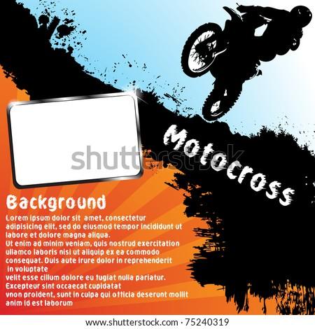 Vector motocross background. Clip-art - stock vector