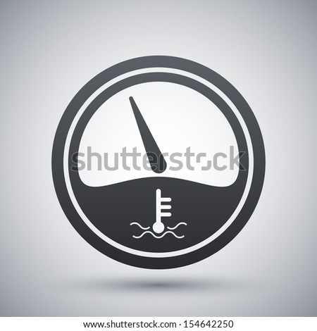 Vector motor temperature gauge icon - stock vector