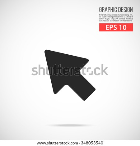 Vector mouse cursor icon. Black icon. Modern flat design vector illustration, quality concept for web banners, web and mobile applications, infographics. Vector icon isolated on gradient background - stock vector