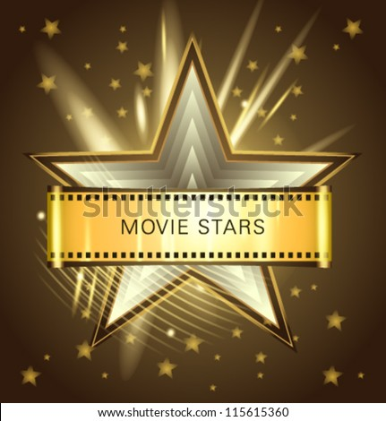 Vector movie stars chocolate - stock vector