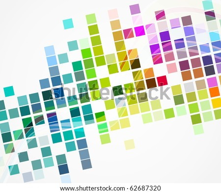 vector multicolor mosaic layout ,eps 10 - stock vector